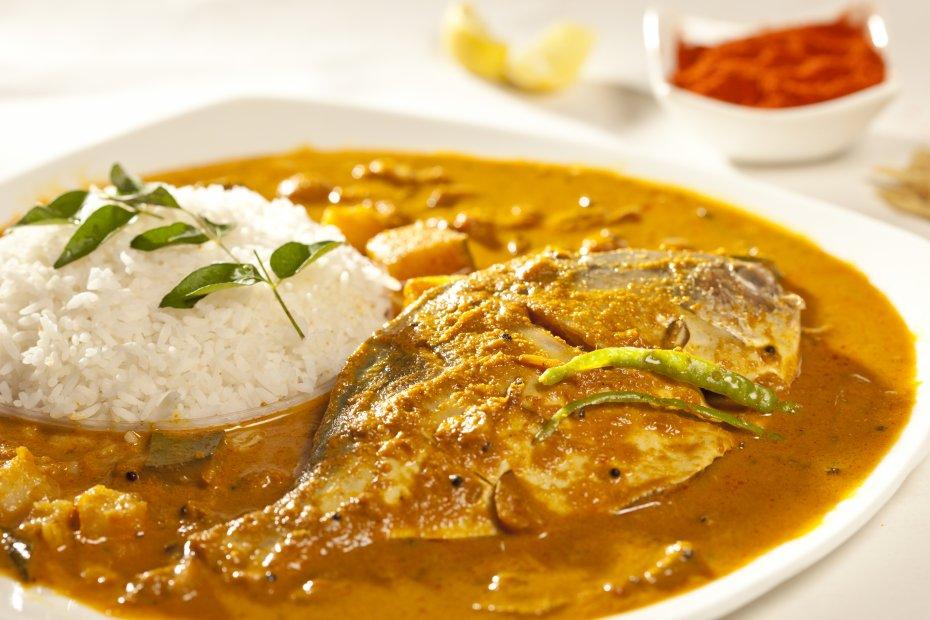 Curry de pescado al estilo goanés