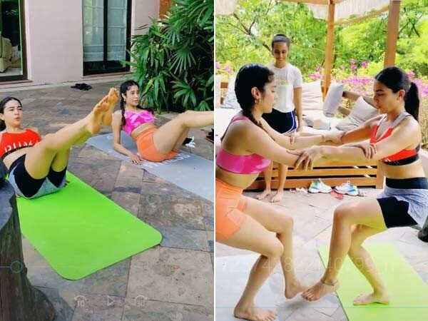 Sara Ali Khan y Janhvi Kapoor entrenan juntas