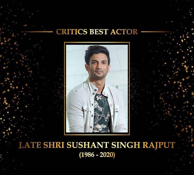Sushant Singh Rajput fue honrado con el Premio Dadasaheb Phalke